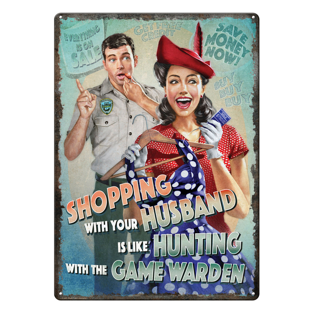Metal Tin Signs, Funny, Vintage, Personalized 12-Inch x 17-Inch - Game Warden
