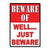 Metal Tin Signs, Funny, Vintage, Personalized 12-Inch x 17-Inch - Beware-Well