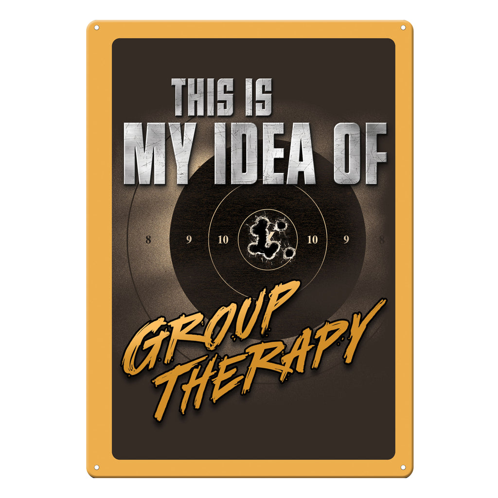 Metal Tin Signs, Funny, Vintage, Personalized 12-Inch x 17-Inch - Group Therapy