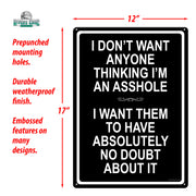 Tin Sign 12in x 17in - AHole Tin