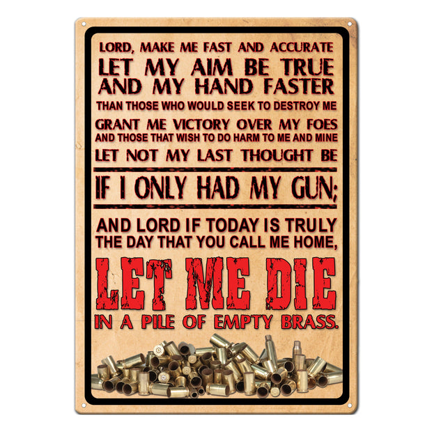Tin Sign 12in x 17in - Lords Prayer