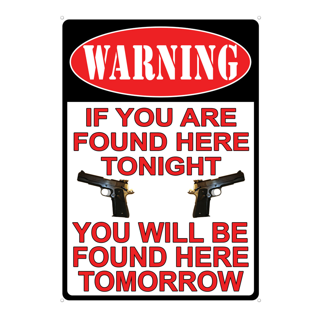 Metal Tin Signs, Funny, Vintage, Personalized 12-Inch x 17-Inch - Warning You're Found