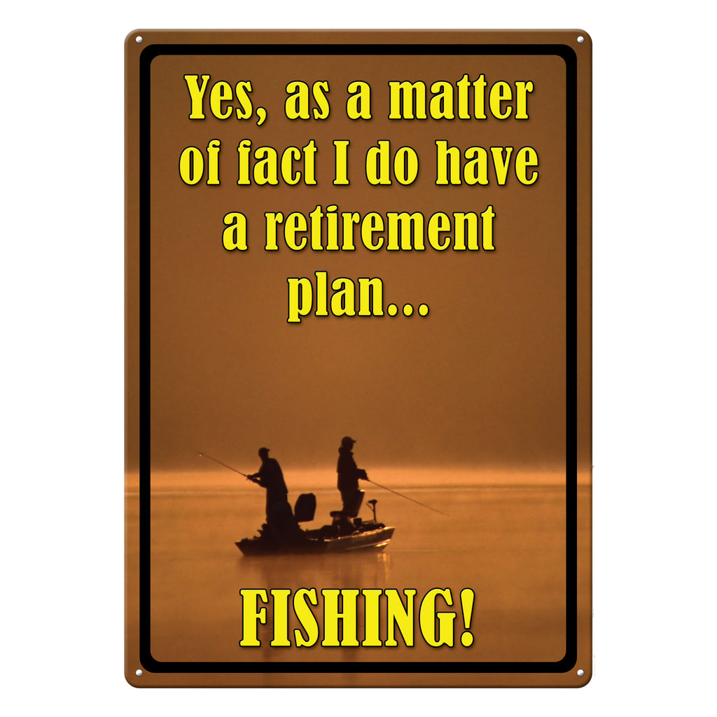 Metal Tin Signs, Funny, Vintage, Personalized 12-Inch x 17-Inch - Retirement