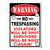 Metal Tin Signs, Funny, Vintage, Personalized 12-Inch x 17-Inch - Warning No Tresspassing