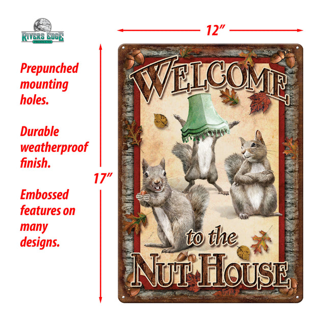 Tin Sign 12in x 17in - Nut House