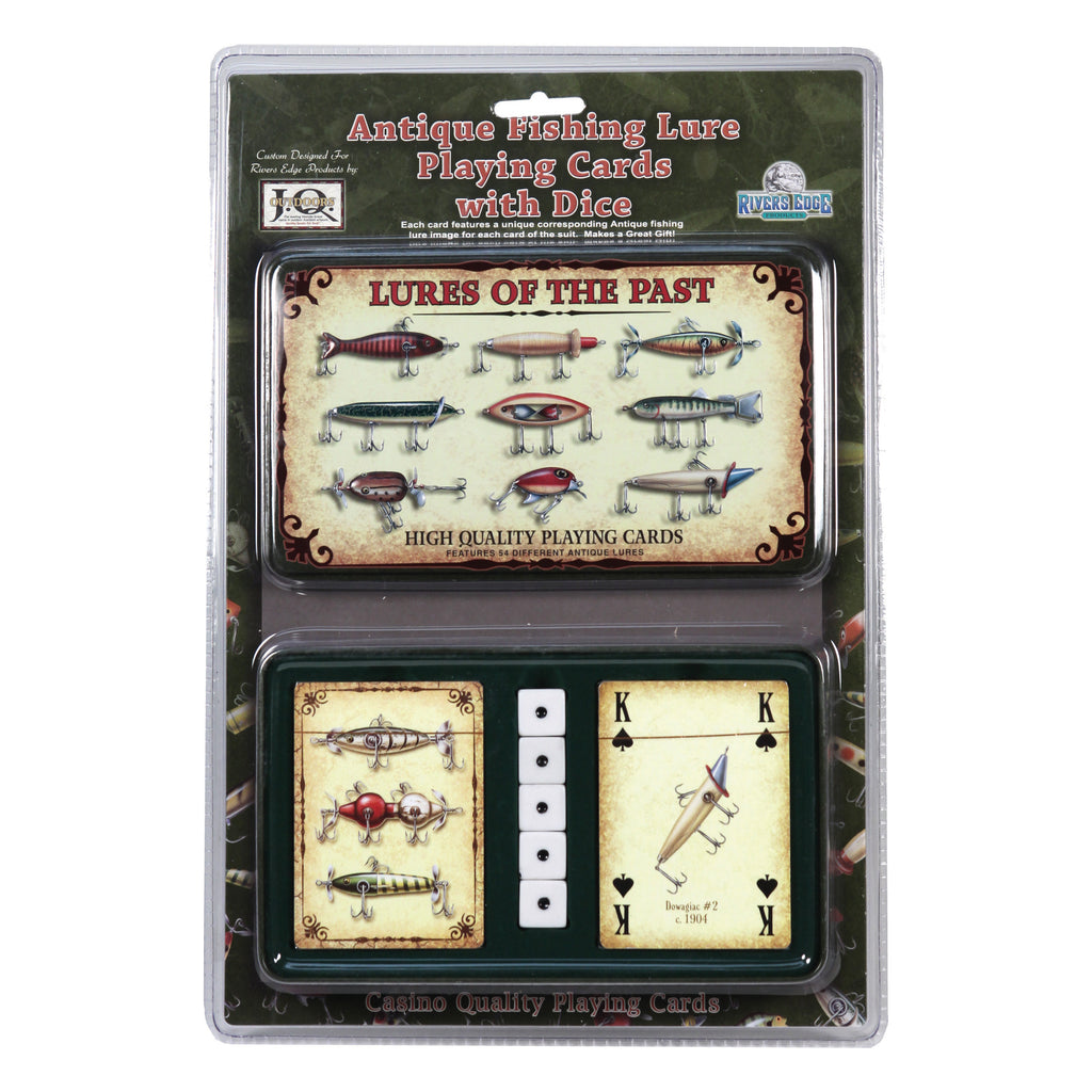 Playing Cards and Dice in Tin - Lures of the Past