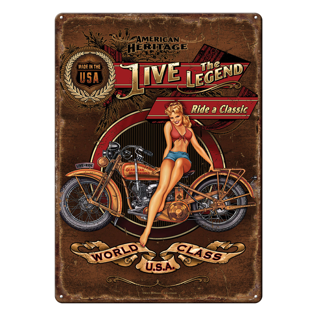 Metal Tin Signs, Funny, Vintage, Personalized 12-Inch x 17-Inch - Live the Legend