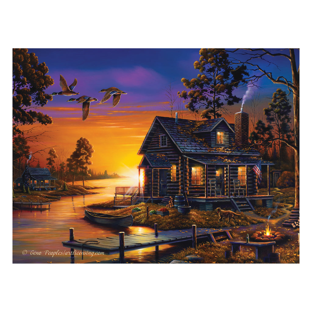 LED Art 16-inches by 12-inches - Cozy Retreat