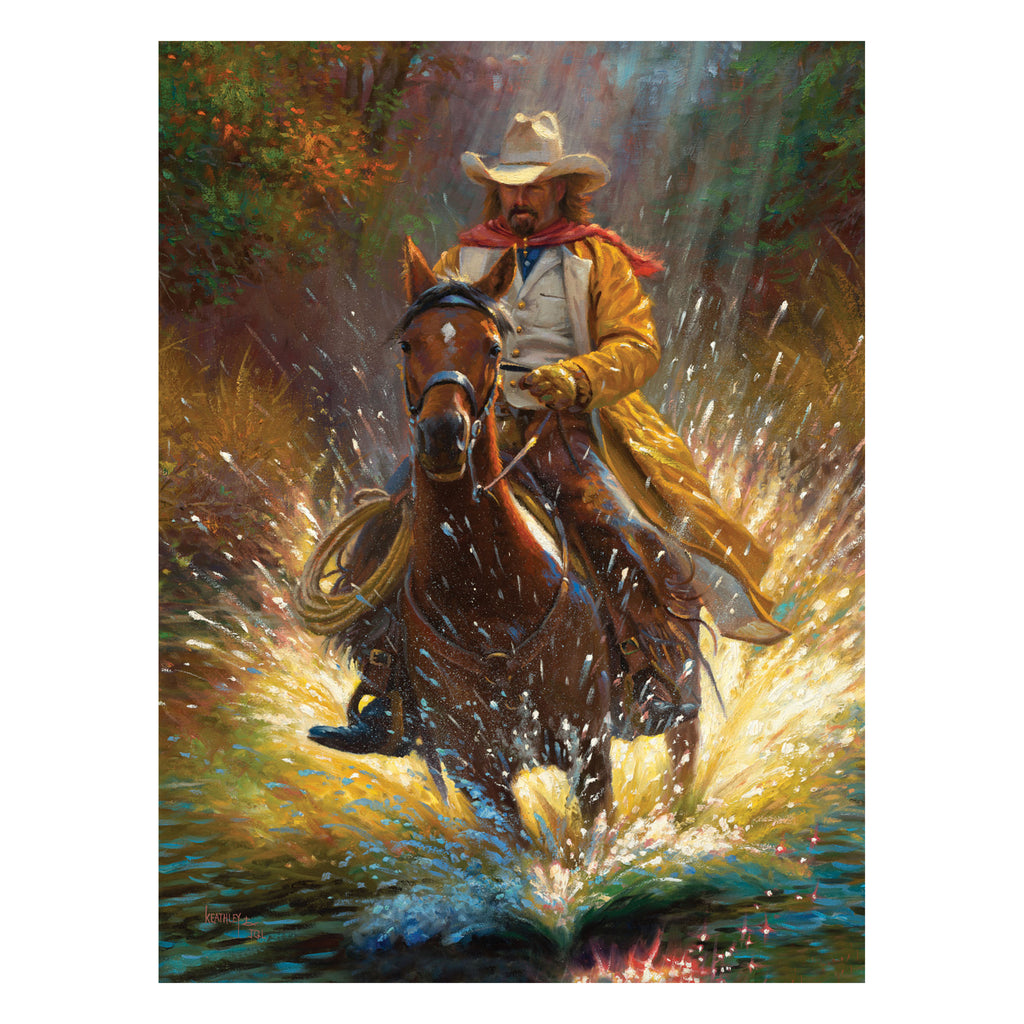 LED Art 16-inches by 12-inches - Cowboy