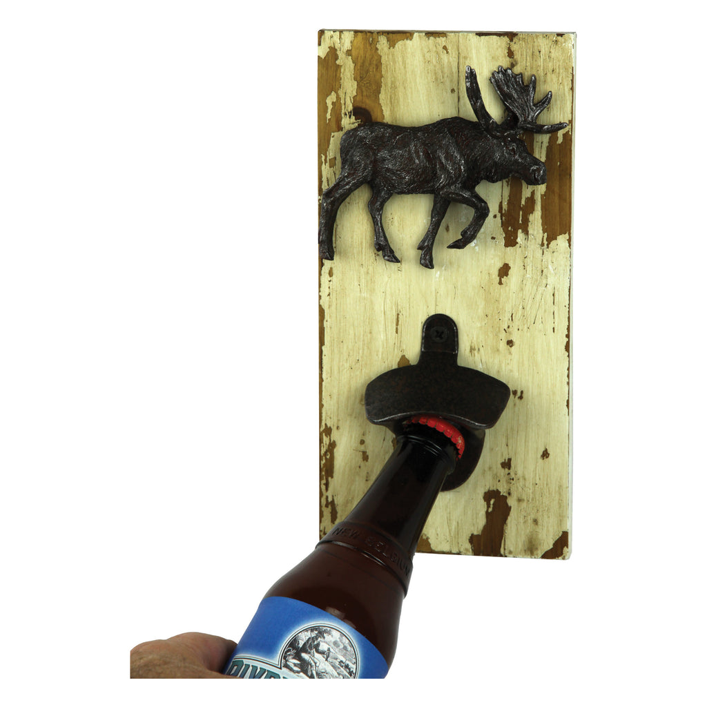 Bottle Opener - Rustic Moose