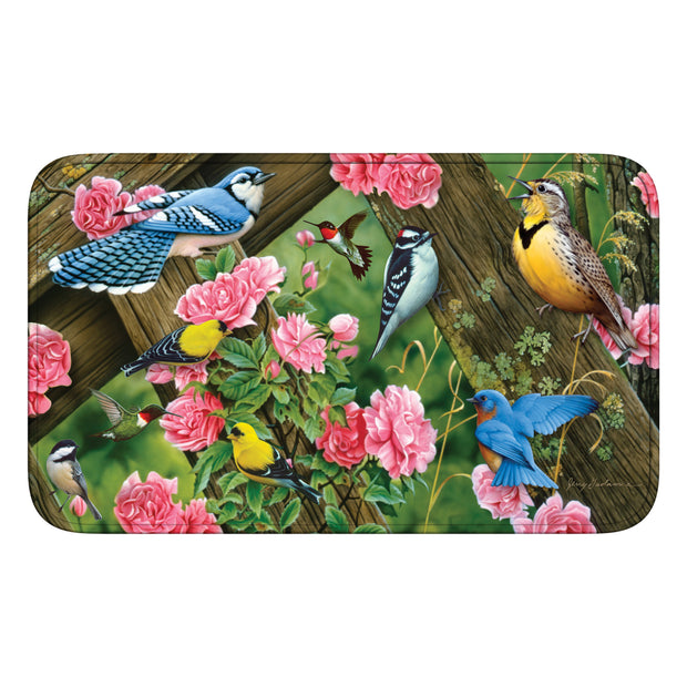 Bath Mat Memory Foam - Song Birds
