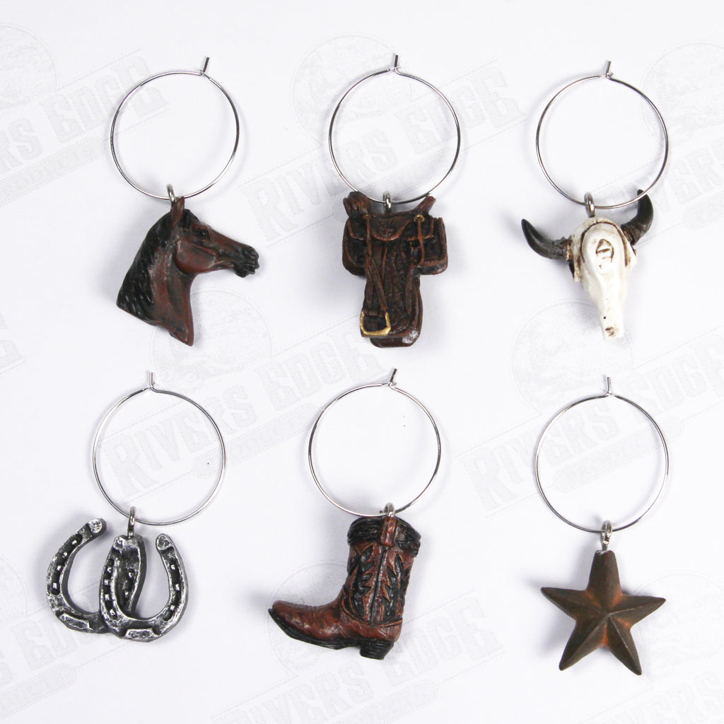 Wine Charms 6-Piece - Western