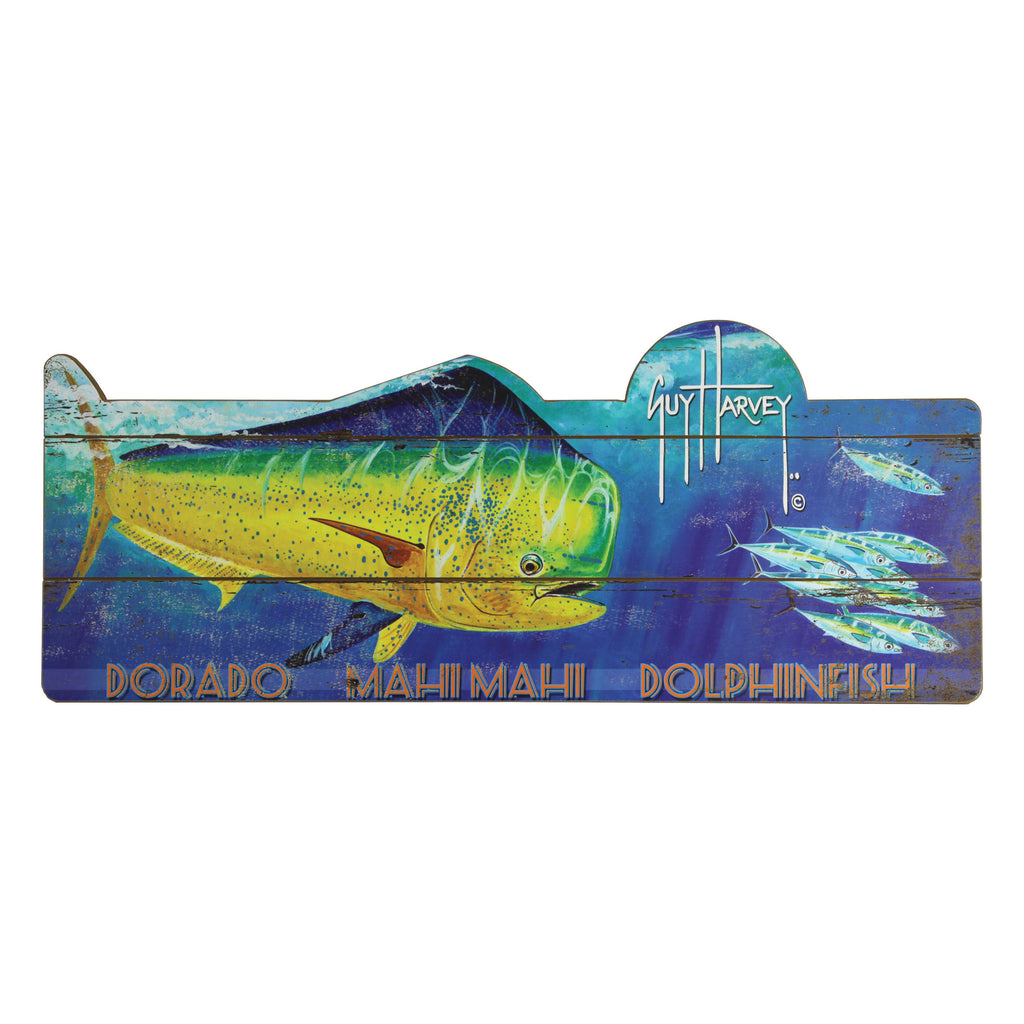 Wood Sign 34in x 14in - Guy Harvey Dorado