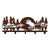Coat/Hat Laser Cut Metal Rack - Moose