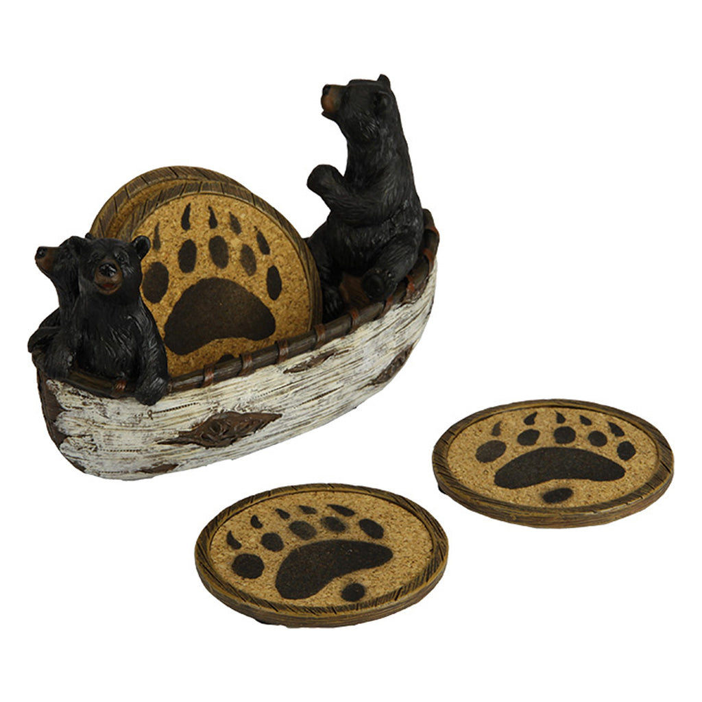 Coaster Set - Bears in Boat