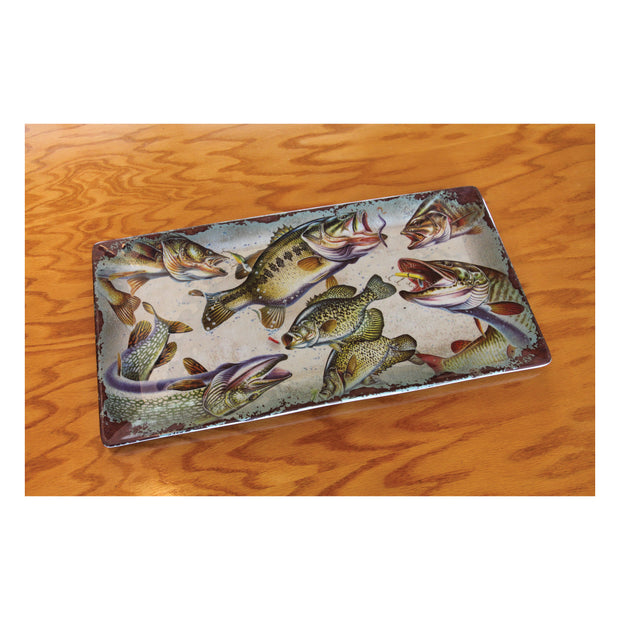 Tray Melamine 18in x 9.5in - Fish
