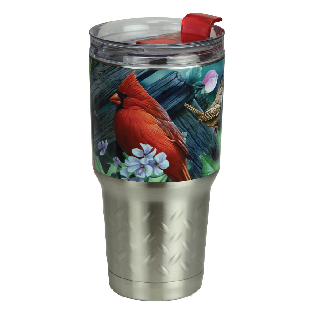 Tumbler 24oz Stainless Steel - Birds