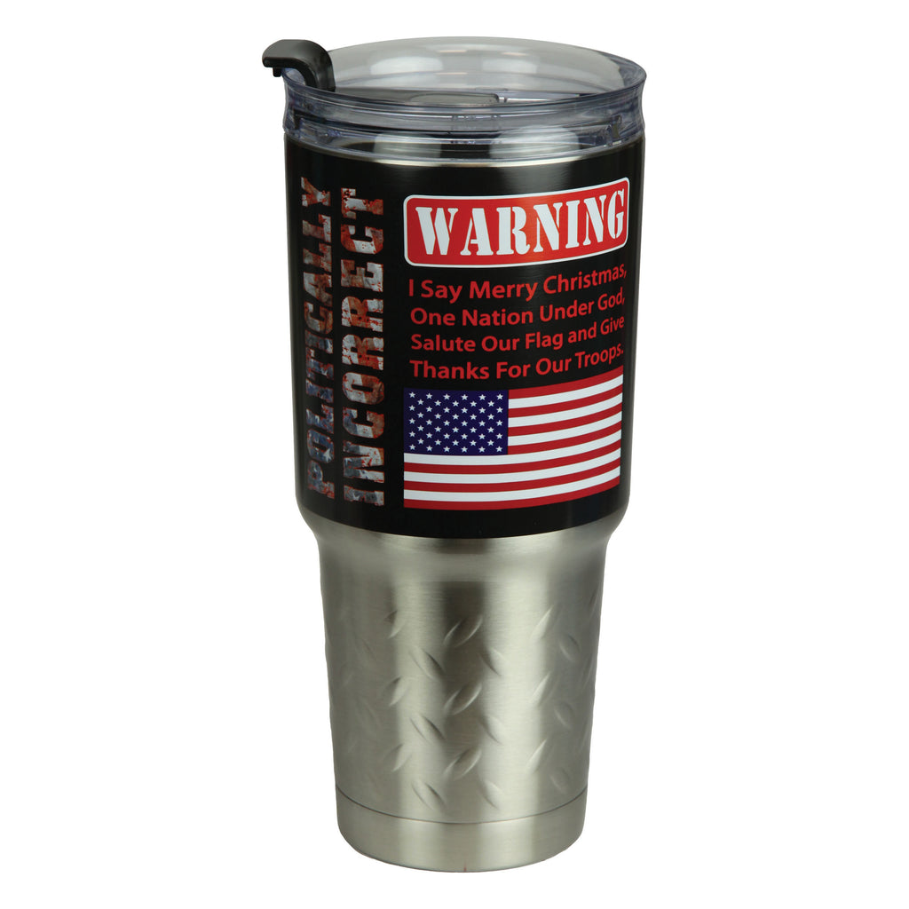 Tumbler 32oz Stainless Steel - Politically Incorrect