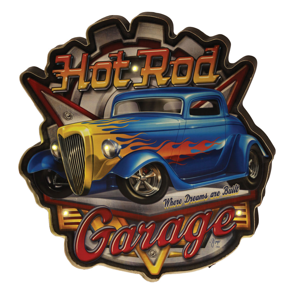 LED Bar Sign - Hot Rod Garage