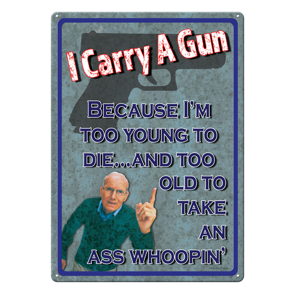 Metal Tin Signs, Funny, Vintage, Personalized 12-Inch x 17-Inch - Too Young to Die