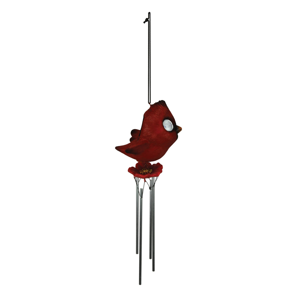 LED Solar Garden Lights/Chime - Cardinal