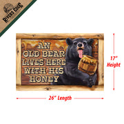 Door Mat Rubber 26in x 17in - Old Bear Lives
