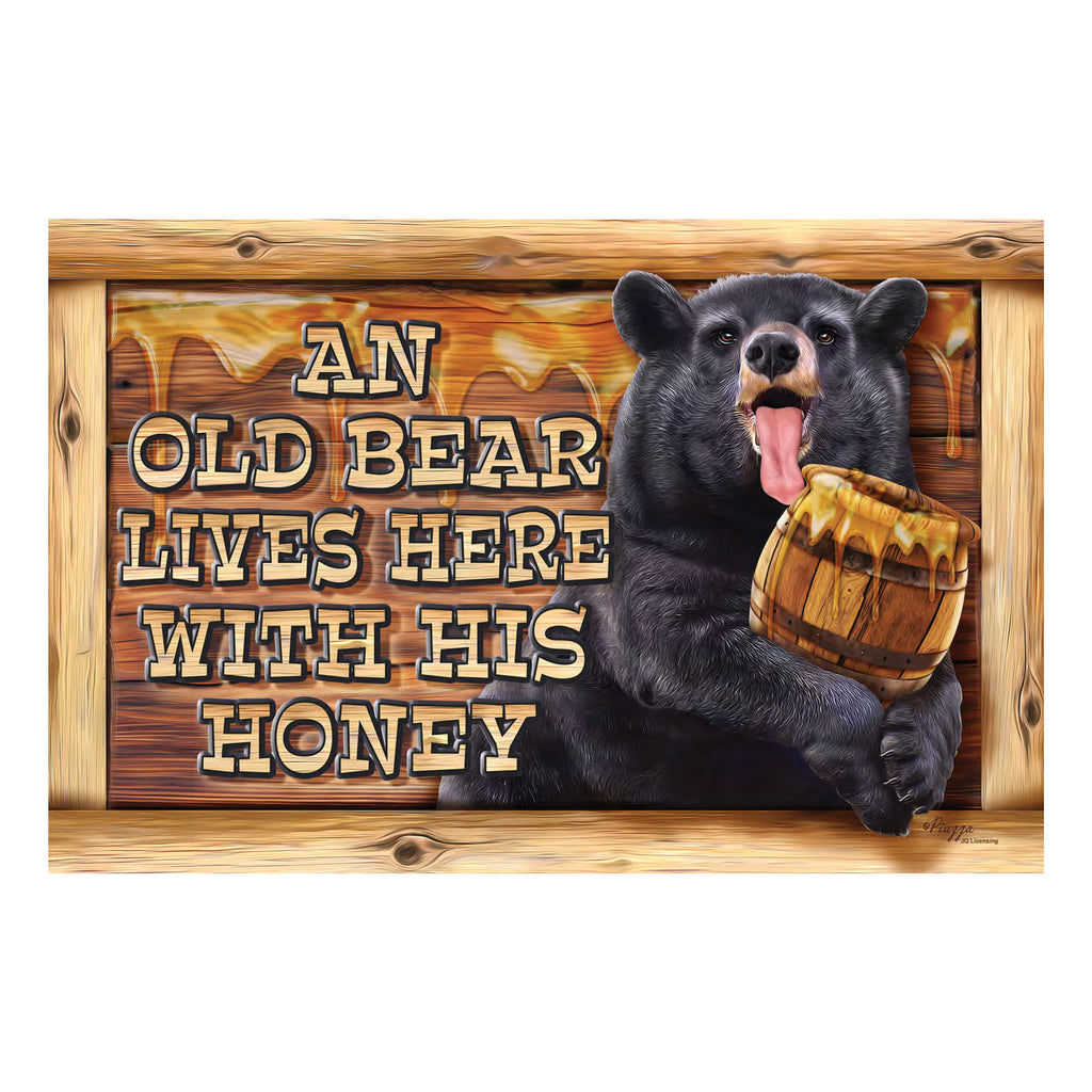 Door Mat Rubber 26-inches by 17-inches - Old Bear Lives
