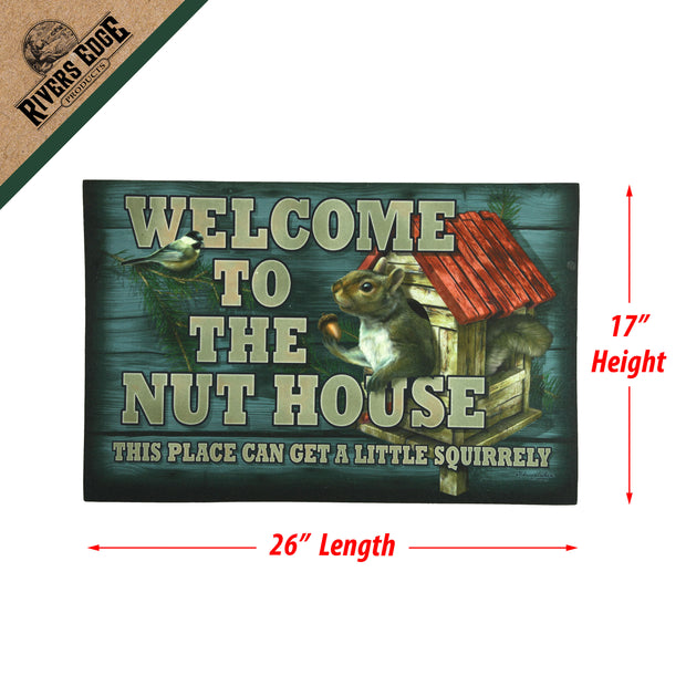 Door Mat Rubber 26in x 17in - Nut House