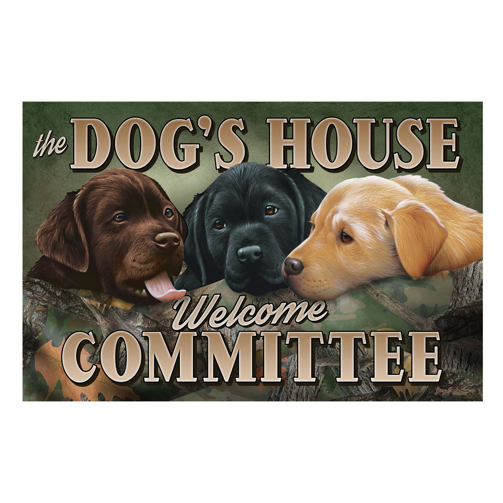 Door Mat Rubber 26-inches by 17-inches - Dogs House