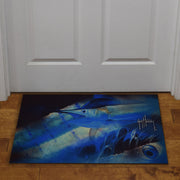 Door Mat Rubber 26in x 17in - Guy Harvey Marlin