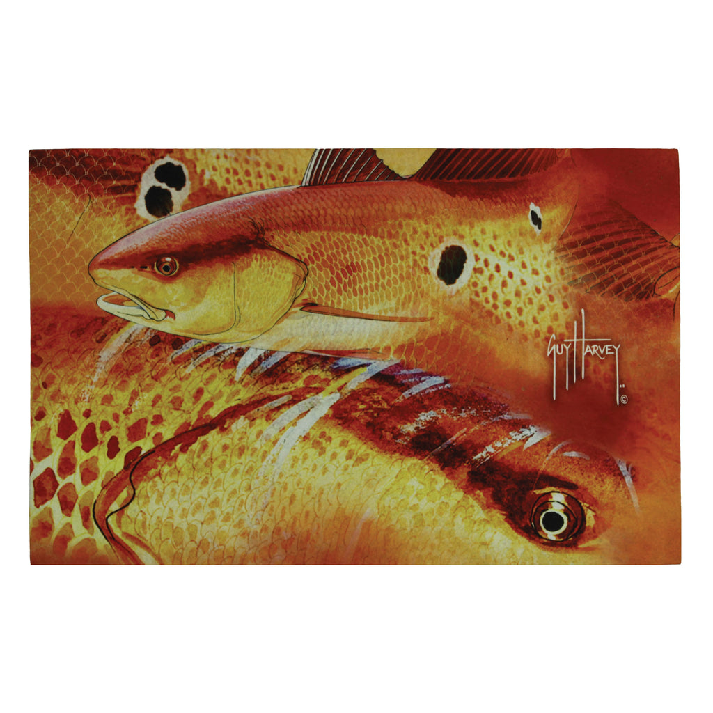 Door Mat Rubber 26-inches by 17-inches - Guy Harvey Redfish