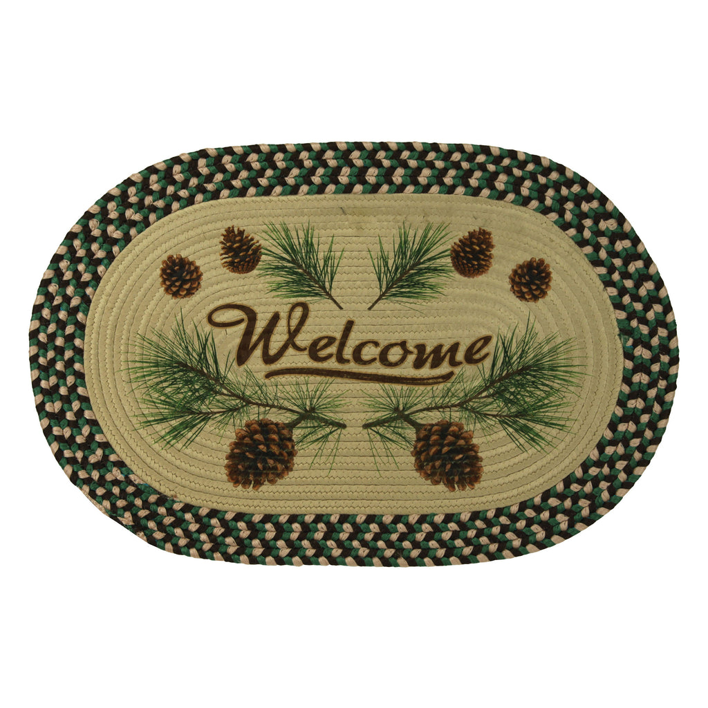 Braided Rug 26-inch Oval - Pine Cone