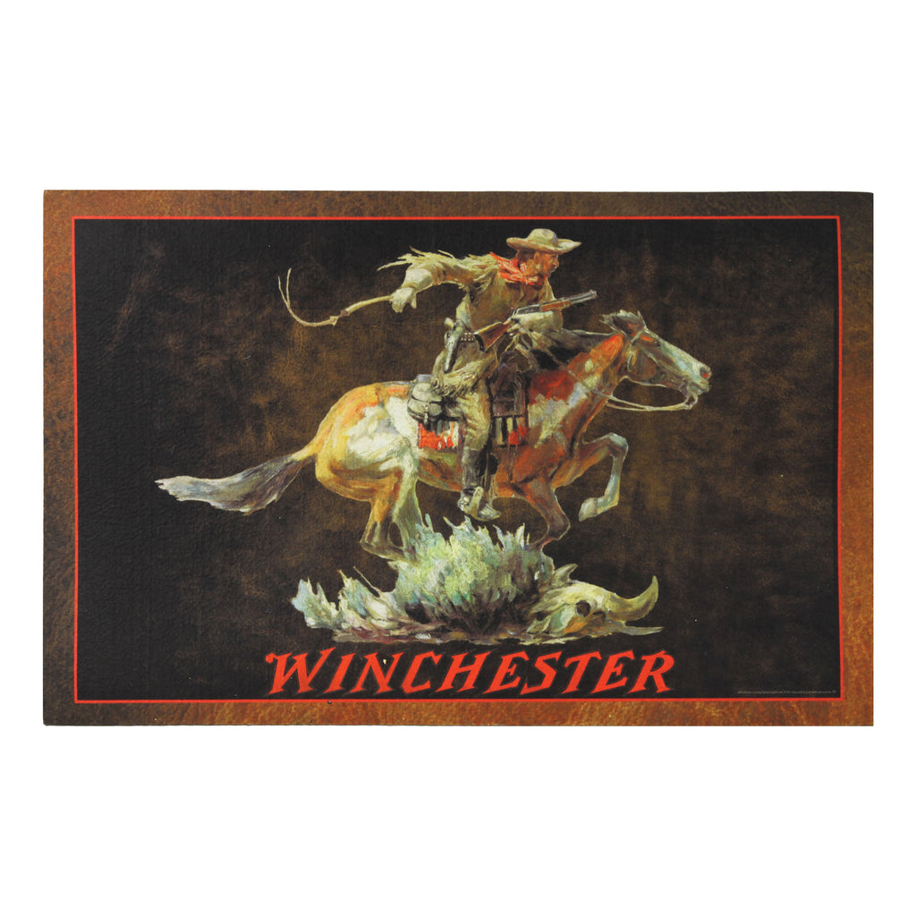 Door Mat Rubber 26-inches by 17-inches - Winchester Horse Rider