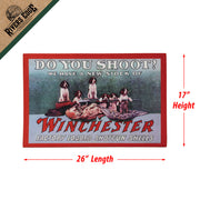 Door Mat Rubber 26in x 17in - Winchester Do You Shoot