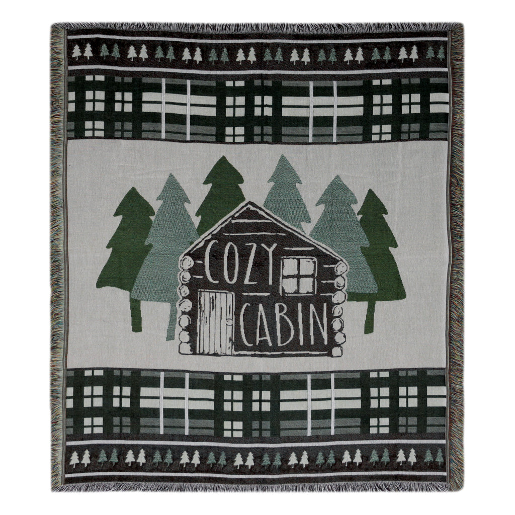 Tapestry Throw 50in x 60in - Cabin