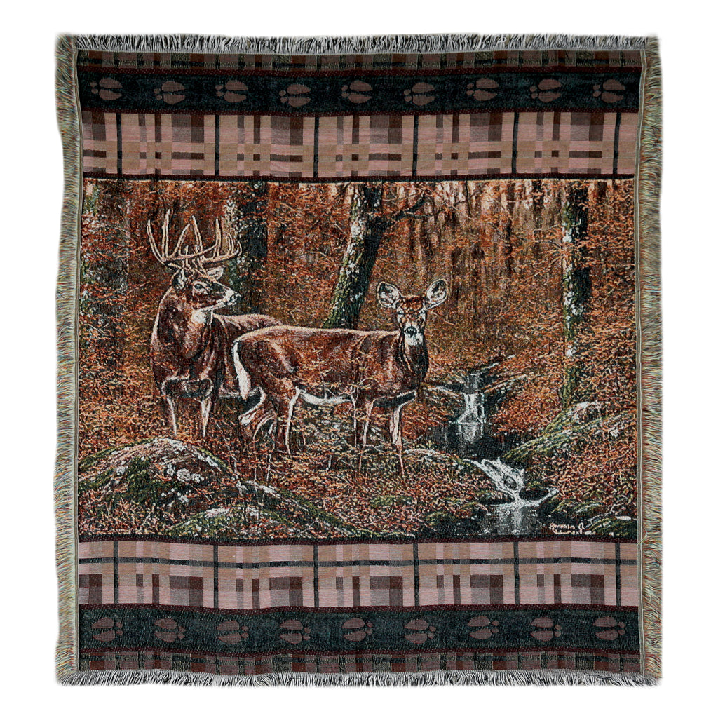 Tapestry Throw 50in x 60in - Deer