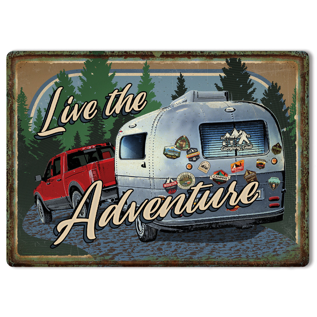Metal Tin Signs, Funny, Vintage, Personalized 12-Inch x 17-Inch - Adventure