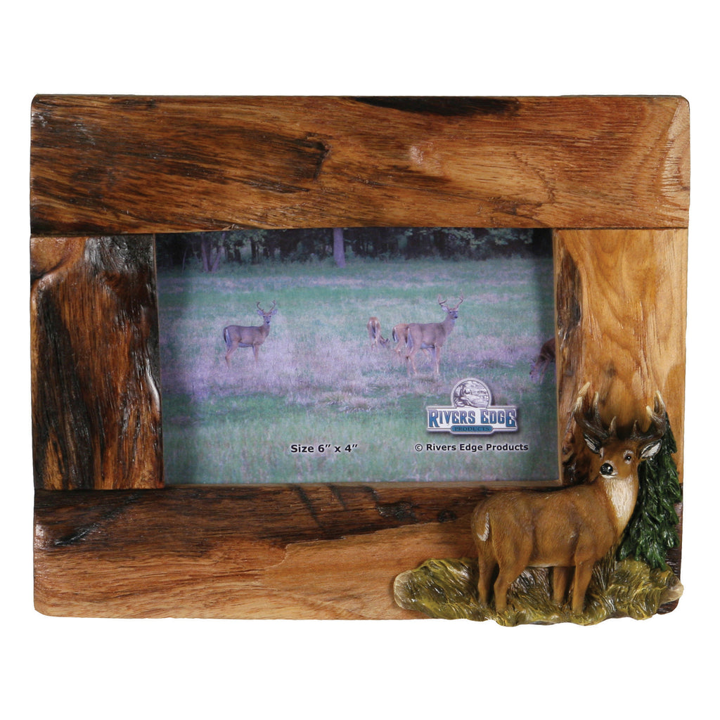 Picture Frame 4in x 6in - Wooden Deer