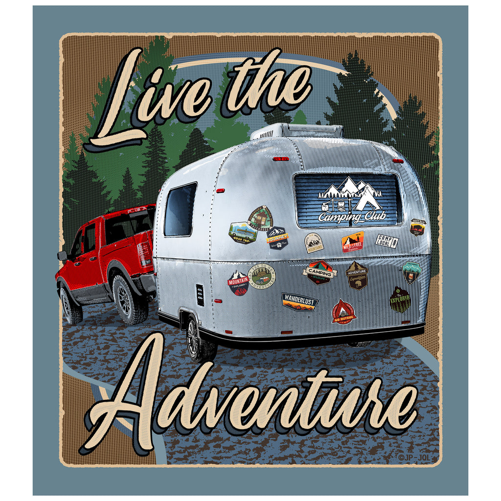 Quilt Blanket 80in x 90in - Live the Adventure