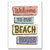 Metal Tin Signs, Funny, Vintage, Personalized 12-Inch x 17-Inch - Beach House