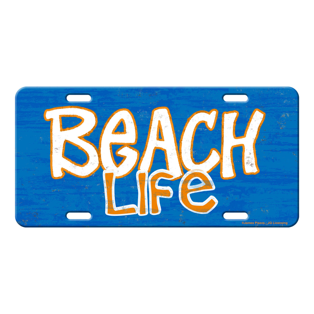 Vanity License Plate 12in x 6in - Beach Life