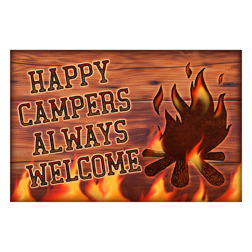 Door Mat Rubber 26in x 17in - Happy Campers