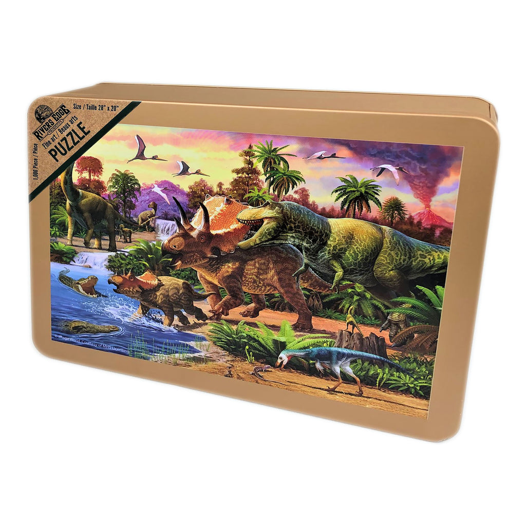 Jigsaw Puzzle in Tin 1000 Piece - Dinosaurs
