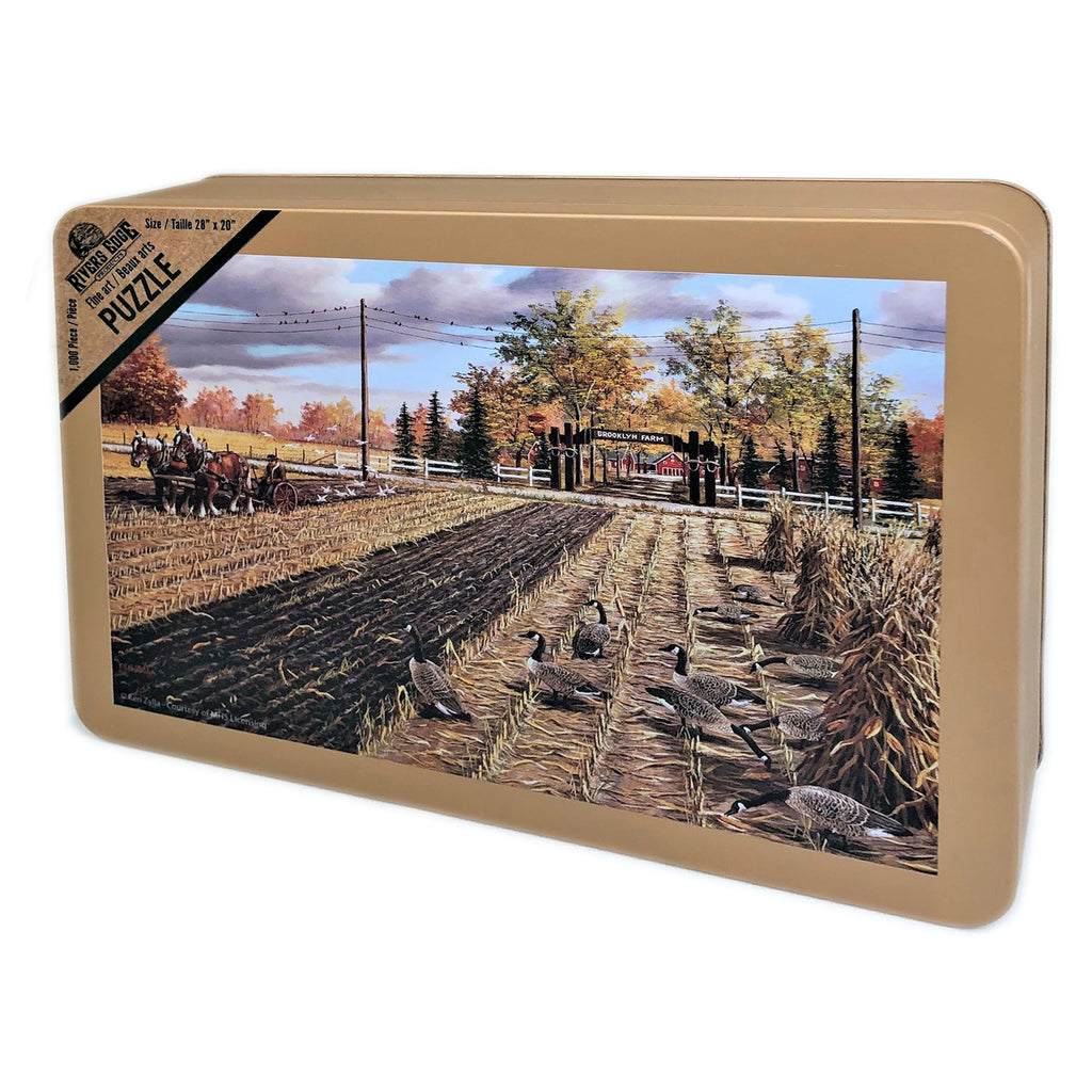 Jigsaw Puzzle in Tin 1000-Piece - Fall Plowing
