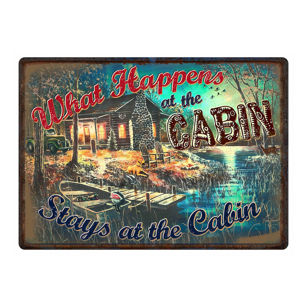 Metal Tin Signs, Funny, Vintage, Personalized 12-Inch x 17-Inch - What Happens