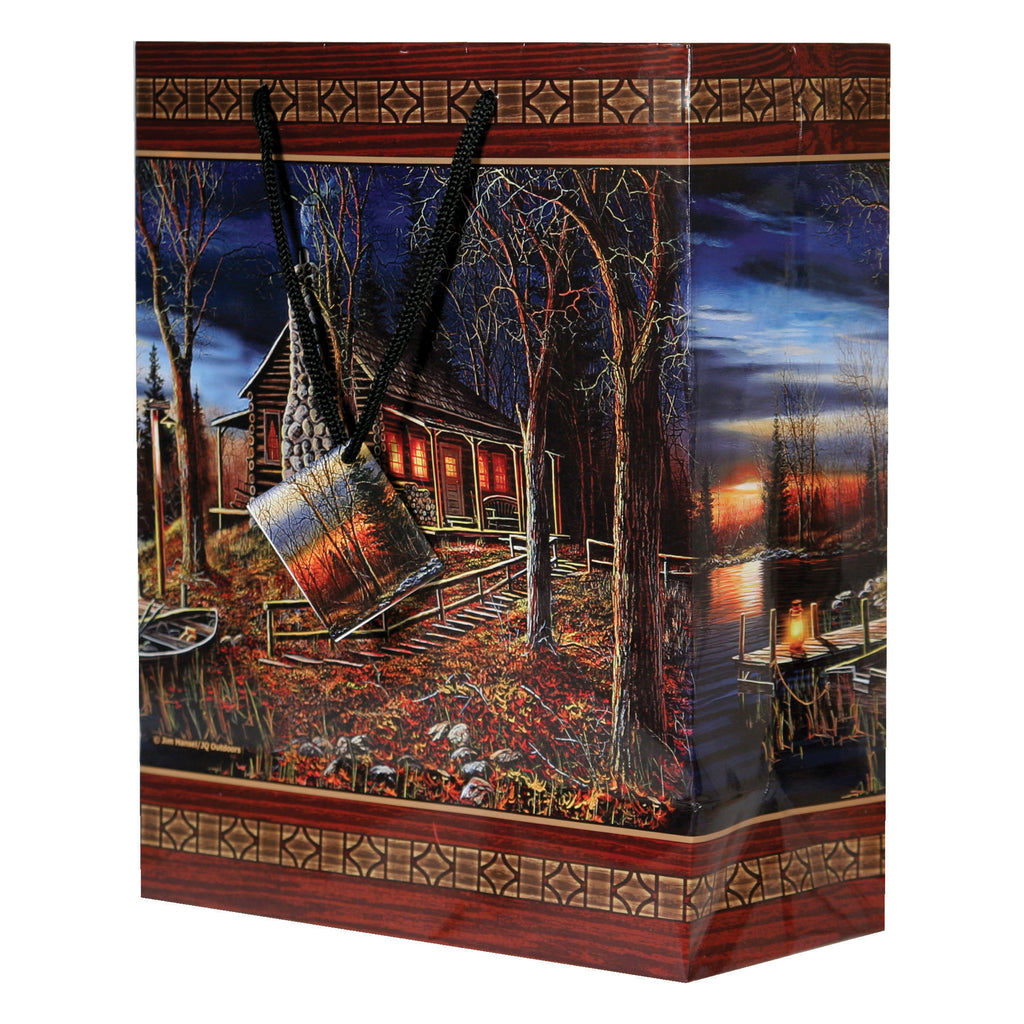 Gift Bag Medium - Cabin Scene