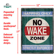 Tin Sign 12in x 17in - No Wake Zone