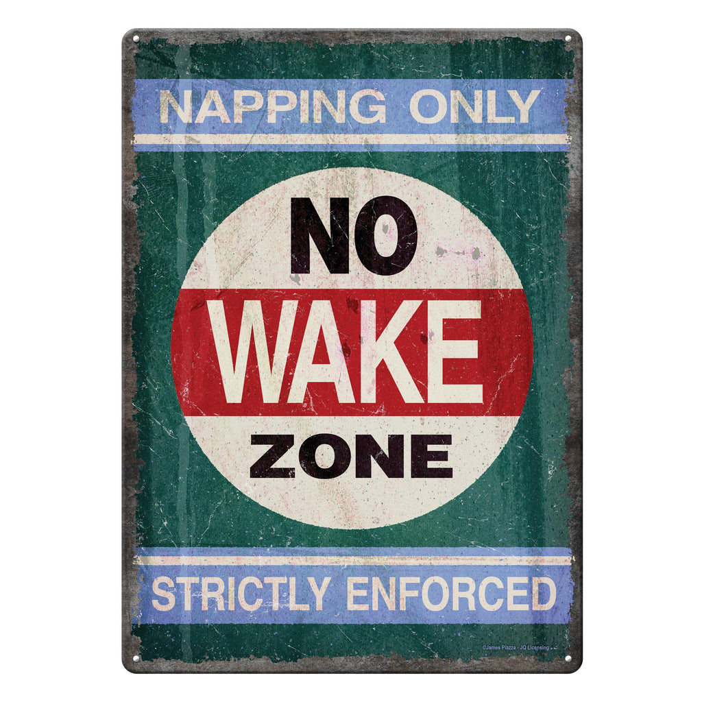 Metal Tin Signs, Funny, Vintage, Personalized 12-Inch x 17-Inch - No Wake Zone