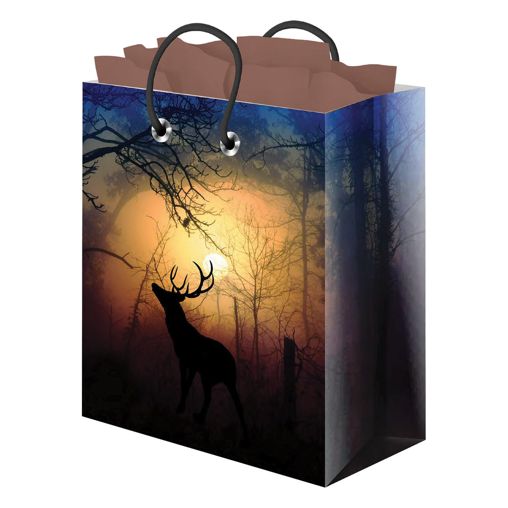 Gift Bag Medium with Tissue Paper - Deer Forest