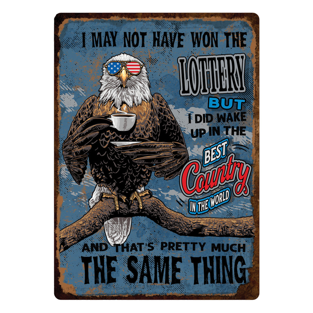 Metal Tin Signs, Funny, Vintage, Personalized 12-Inch x 17-Inch - Best Country in the World